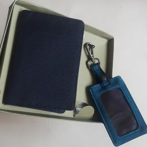 Passport case and luggage tag set